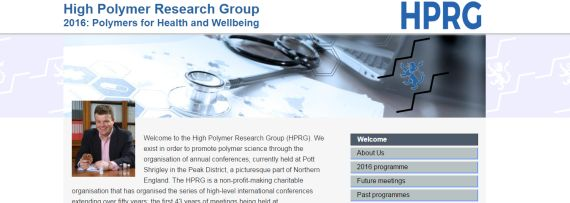 Screenshot of the high polymer website on a wide screen device.