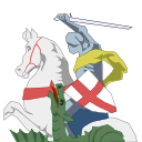 George and Dragon logo, remastered from the pub-sign original by Barry (Sept. 2020).